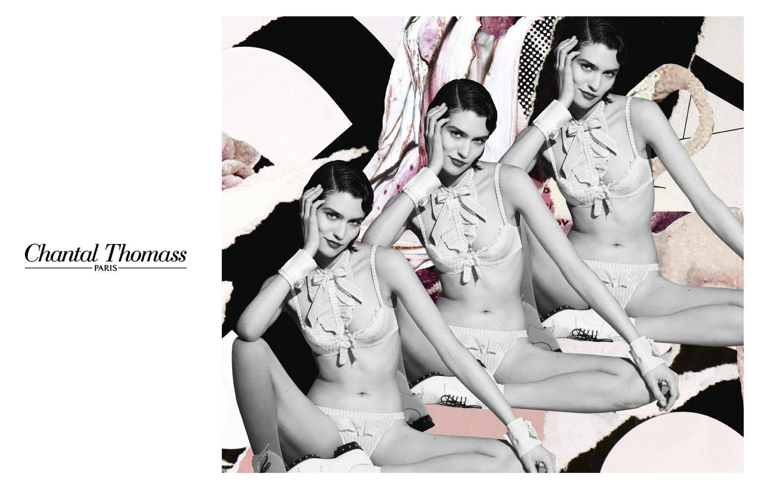Chantal Thomass Campaign starring Manon Leloup by Quentin Jones