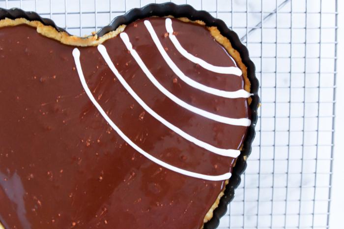 Chocolate Spiderweb Bakewell Tart