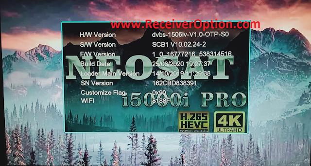 NEOSAT i5000i PRO WIFI TYPE 1506LV 1G 8M NEW SOFTWARE WITH ECAST OPTION