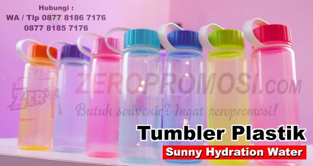 Souvenir Botol Minum Sunny Hydration, Bottle Promotion, Souvenir Promosi Tumbler Plastik Sunny Hydration Water, Tumbler Sunny chielo, Pusat Souvenir Tumbler Promosi