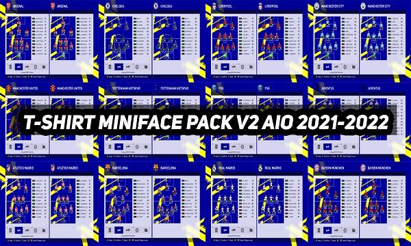 PES 2017 T-SHIRT MINIFACE PACK V2 AIO SEASON 2021-2022