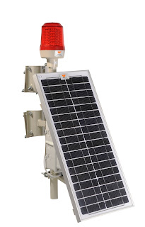 Wetra solar powered led aviation obstruction lights