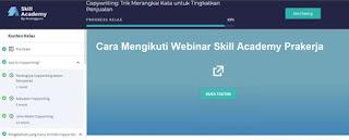 Cara Mengikuti Webinar Skill Academy Prakerja