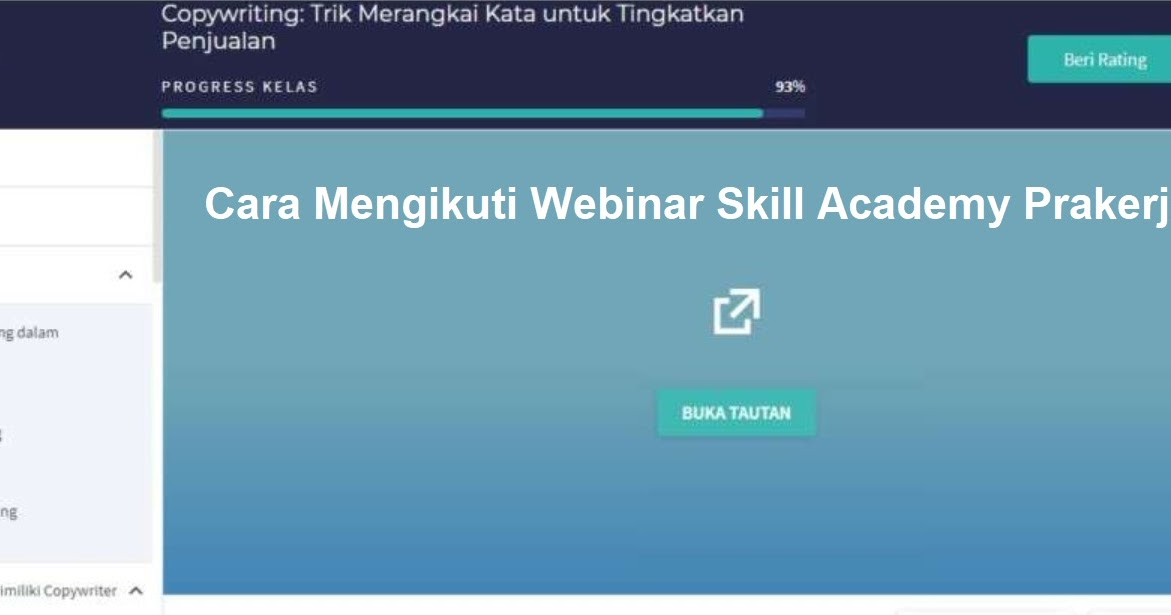 Cara Mengikuti Webinar Skill Academy Prakerja Mudah Area Tekno