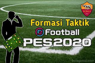 Formasi Taktik Terbaik AS Roma PES 2020