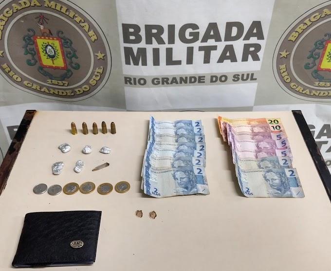 Homem é preso em posse de munições e drogas na Fátima em Cachoeirinha