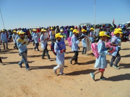 انطلاق الموسم الدراسي الجديد بمخيمات اللاجئين الصحراويين والمناطق المحررة