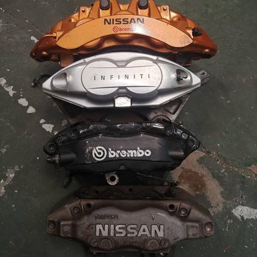 Brake caliper comparison R35, Brembo, Akebono, Sumitomo