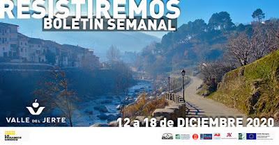 VALLE DEL JERTE, BOLETÍN SEMANAL (12 a 18 diciembre 2020)