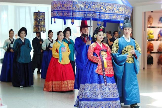 فستان الزفاف التقليدي في كوريا