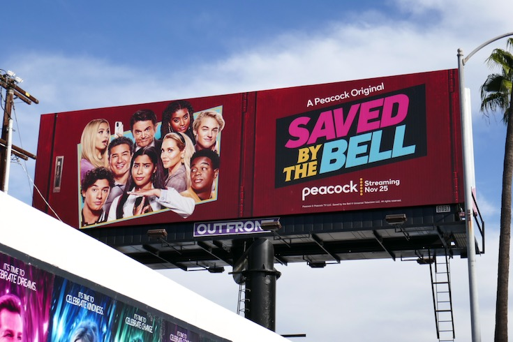 Saved by the Bell 2020 series billboard