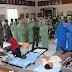 SAMBUT HUT TNI, KODIM 0703/CILACAP GELAR BAKTI SOSIAL DONOR DARAH