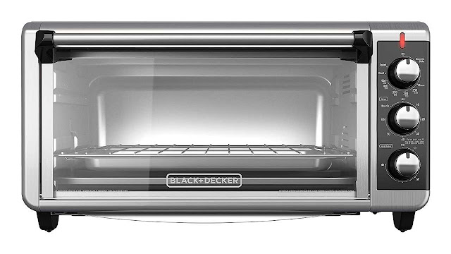 BLACK+DECKER 8-Slice Extra Wide Convection Countertop Toaster Oven