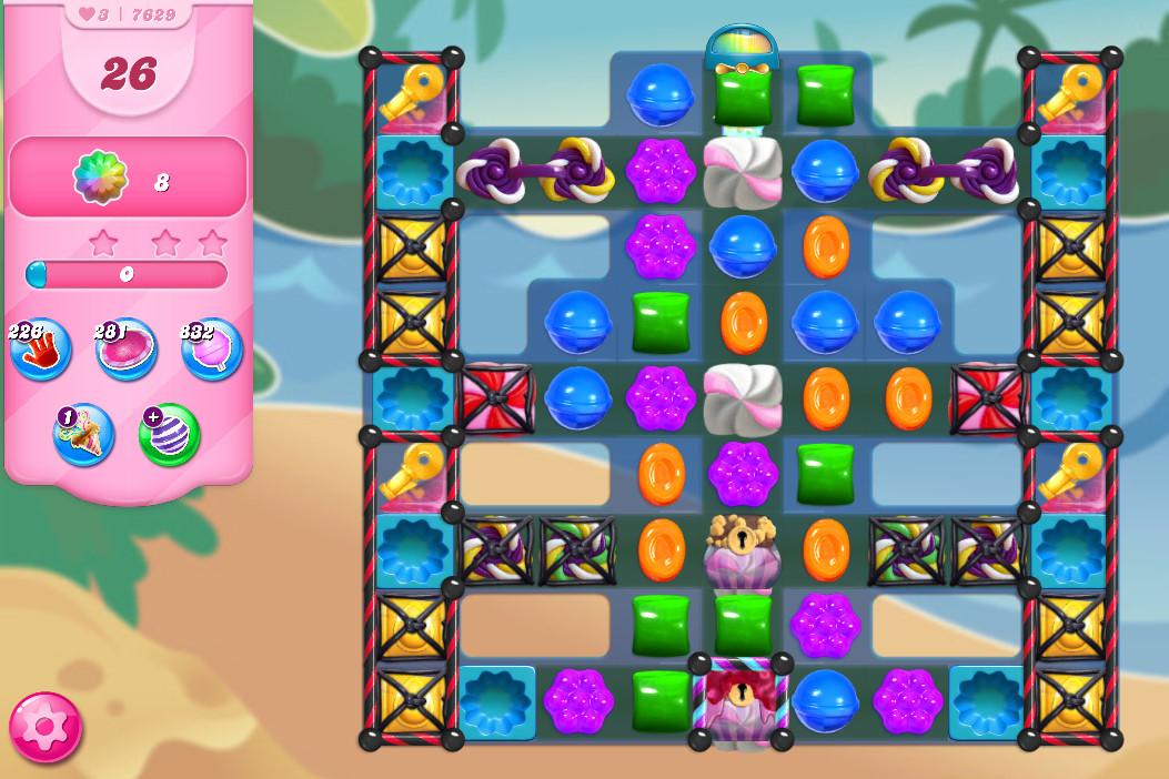Candy Crush Saga level 7629
