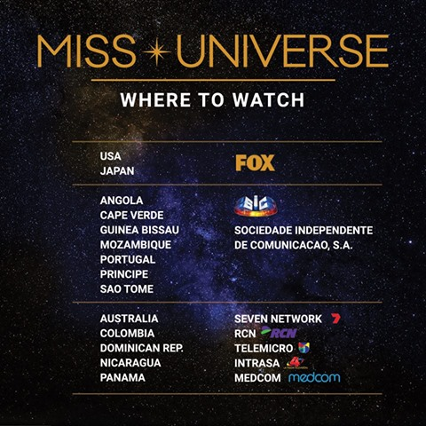 MISS UNIVERSE 2016-2017 Live Streaming Links | LIVE IN