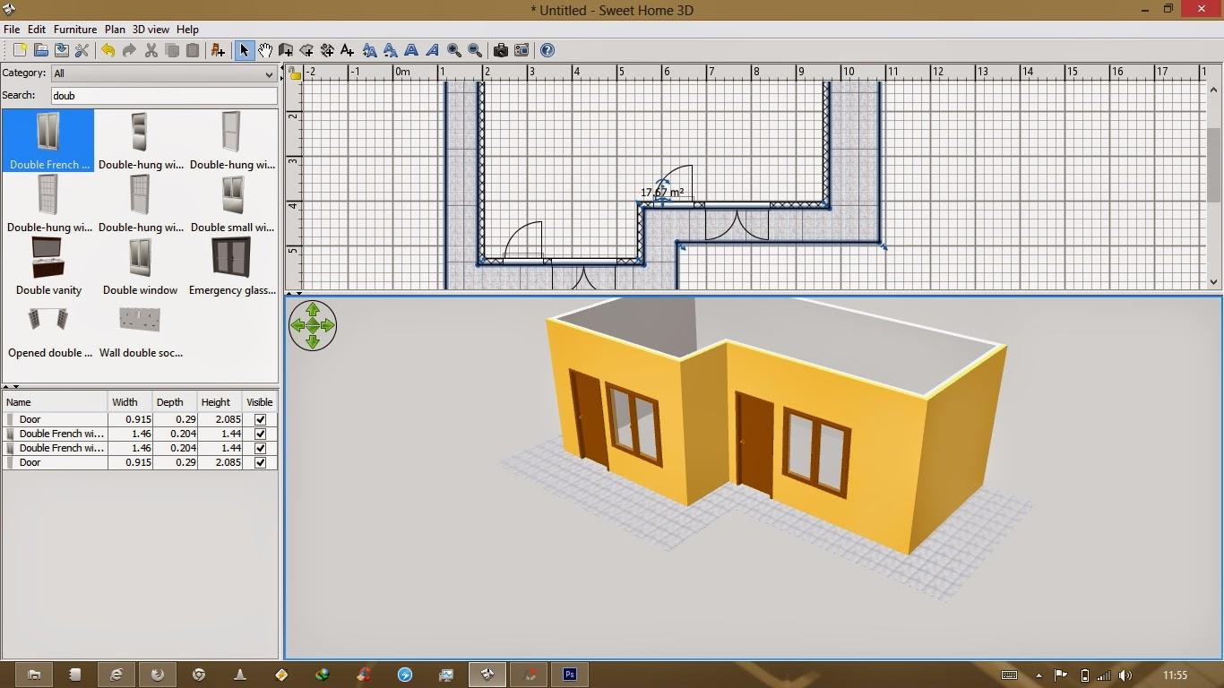 Rizal Amd Rvh Cara Membuat Desain Rumah 3d Dengan Sweet Home 3d