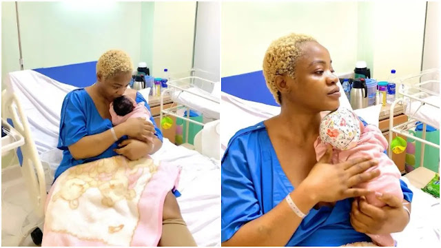 I won, no joy like this one Actress Uche Ogbodo finally returns home with her baby after spending 10 days in hospital (Video)