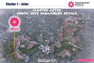 paramount petals lokasi cluster