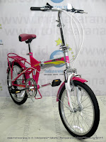 Sepeda Lipat United Quest C1.01 Carrier 20 Inci Pink
