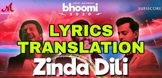 Zinda Dili Lyrics in English | With Translation | – Arijit Singh