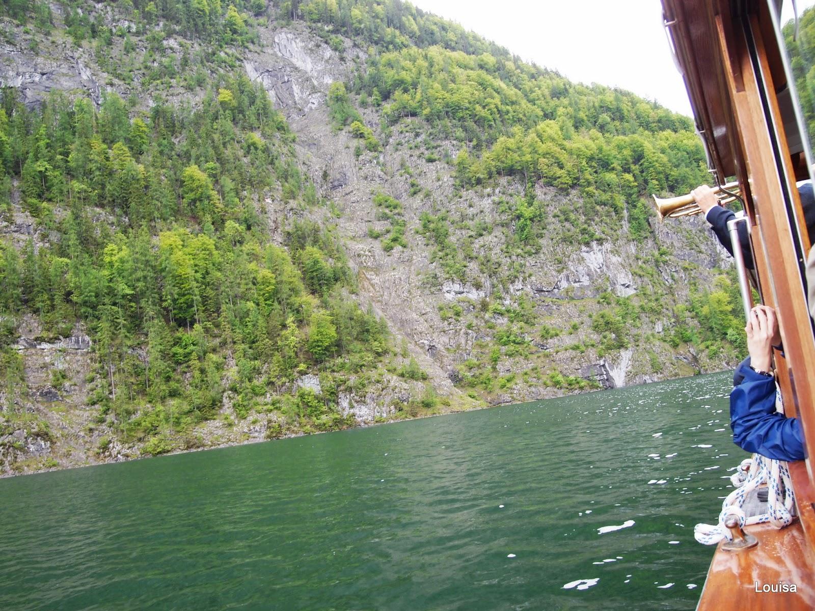 Louisa's memory: 奧匈 Day 7 5/24 (四) Königssee國王湖-人間秘境Obersee(上湖)