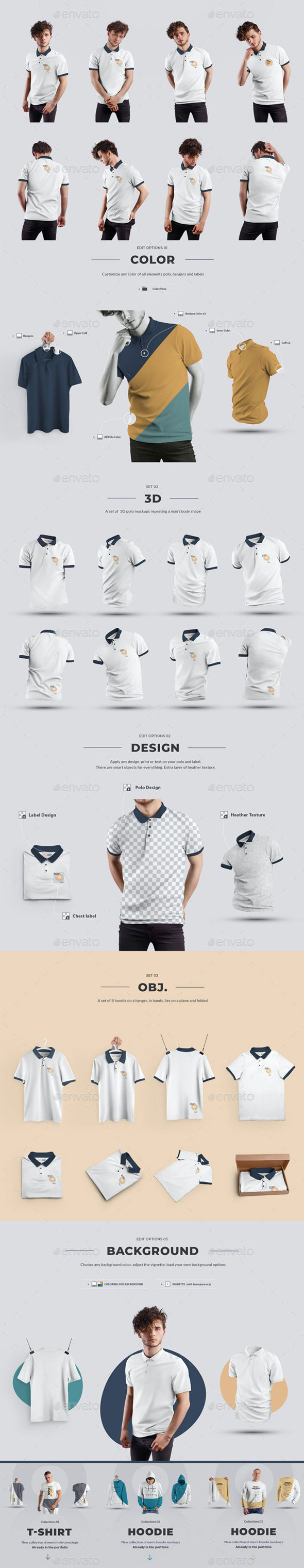 24 Polo Men Mockup Man3D Objects Collection 4 29362775 Free