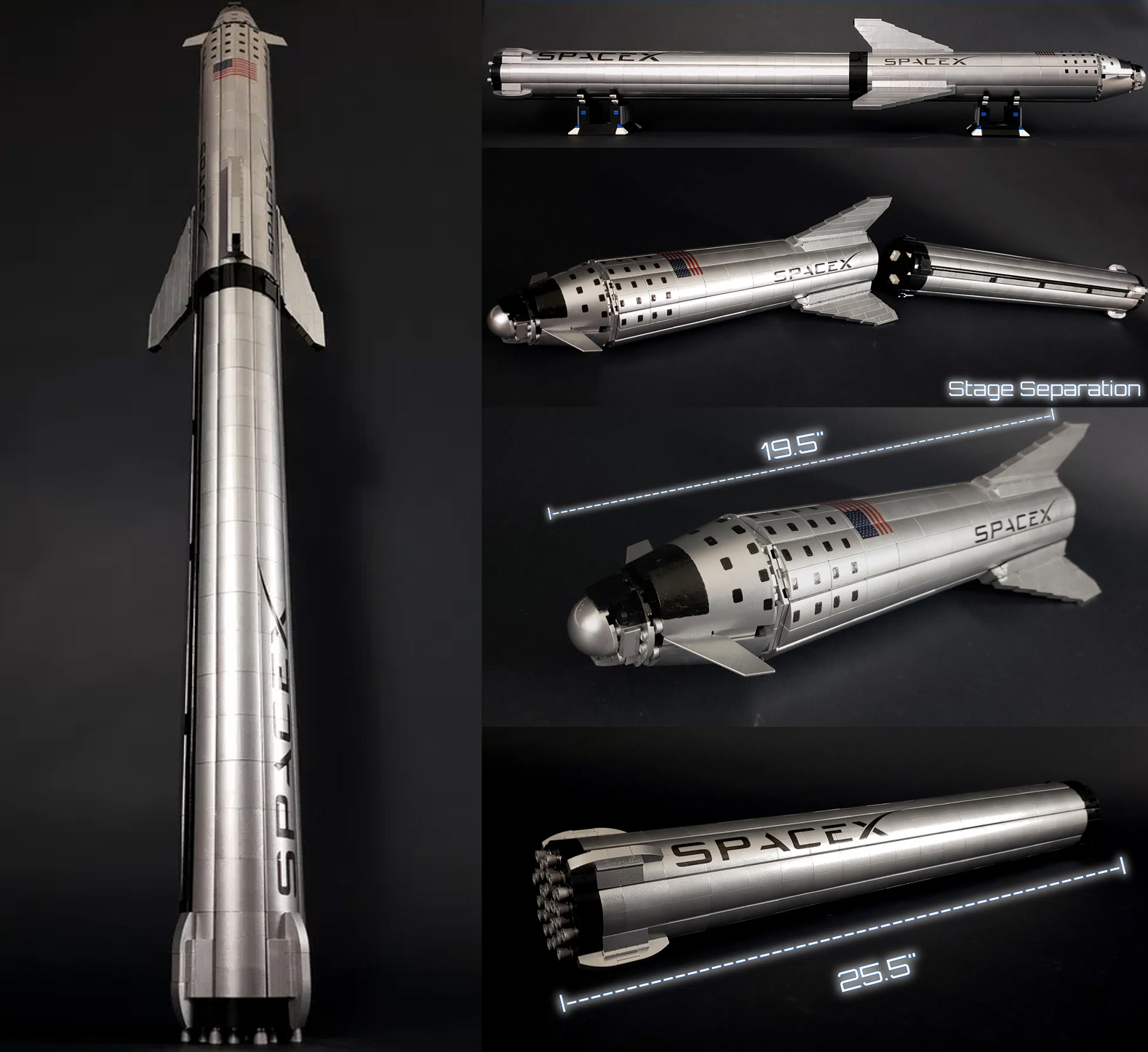レゴアイデアで『スペースXスターシップとスーパー・ヘビー(BFR)』が製品化レビュー進出!2021年第1回1万サポート獲得デザイン紹介