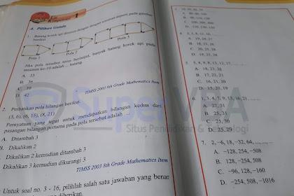 Kunci Jawaban Uji Kompetensi 1 Soal Pilihan Ganda Matematika Kelas 8 K 2013 Revisi 2017 [Terbaru]