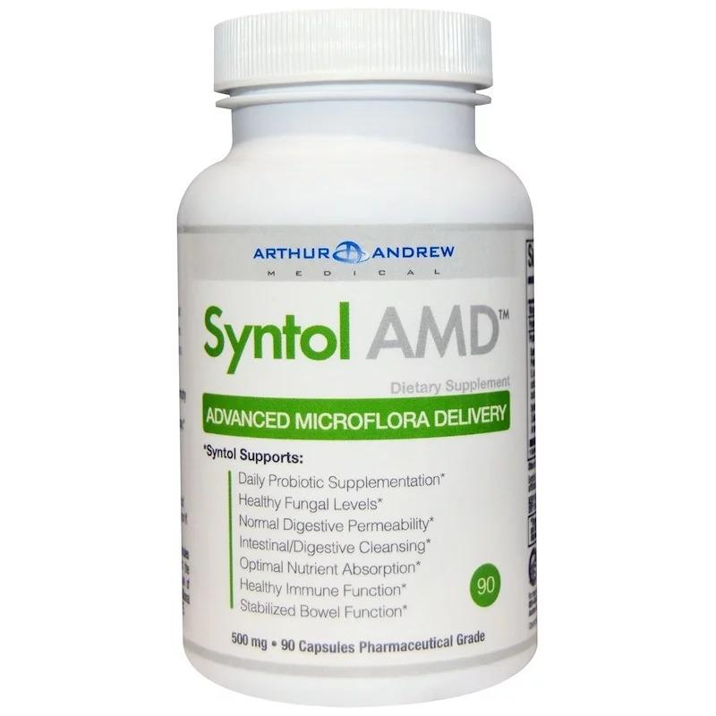 Arthur Andrew Medical, Syntol AMD, усовершенствованная доставка микрофлоры, 500 мг, 90 капсул