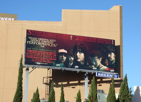 Stranger Things SAG Awards consideration billboard
