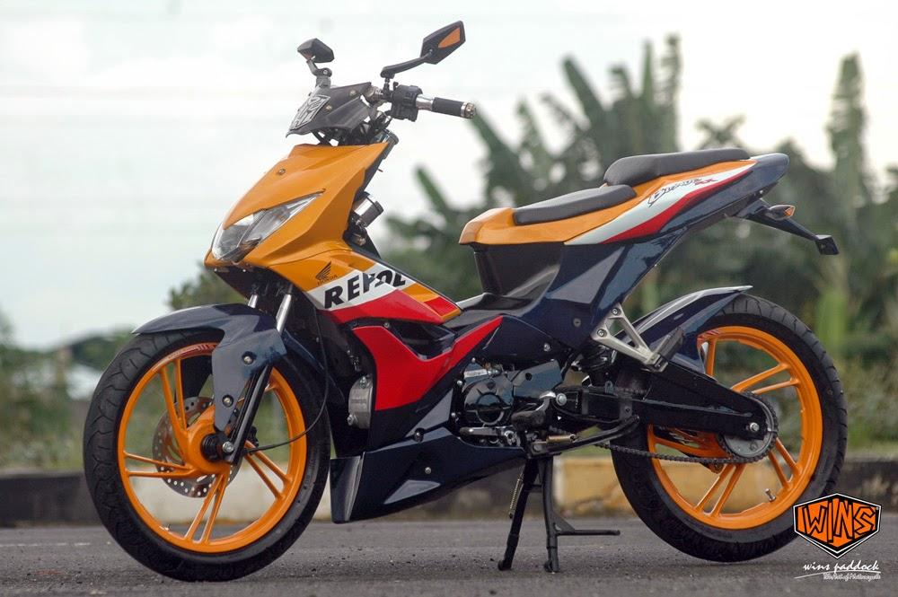 Kumpulan Gambar Modifikasi Motor Honda Blade Terbaru
