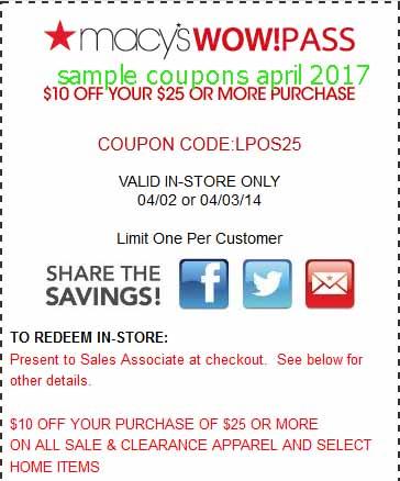 Macys discount coupon