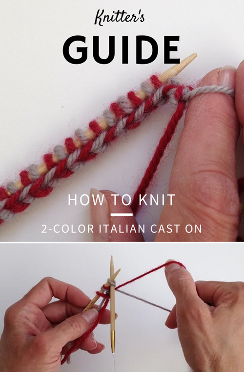 How To Knit a 2 Color Italian Cast-on - Tutorial