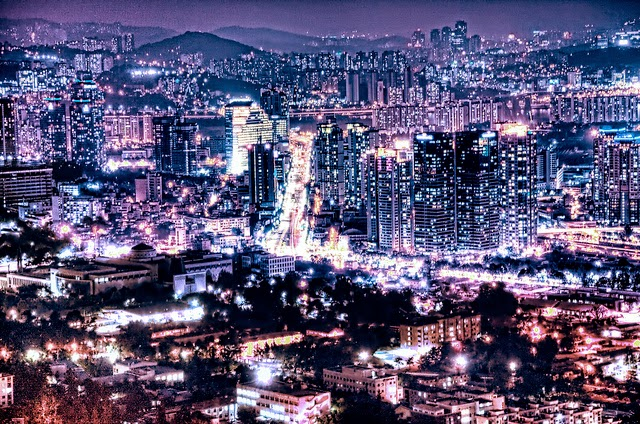 Seoul night skyline
