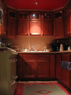 Dark color Small Kitchen Cabinets Pictures