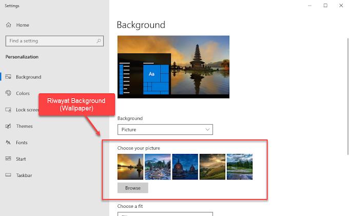 Cara Menghapus Riwayat Background di Windows 10