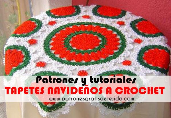tapetes-navideños-crochet-patrones