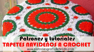 Tapetes Navideños a Crochet con Patrones