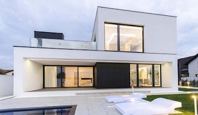แบบบ้านสีขาวดำ