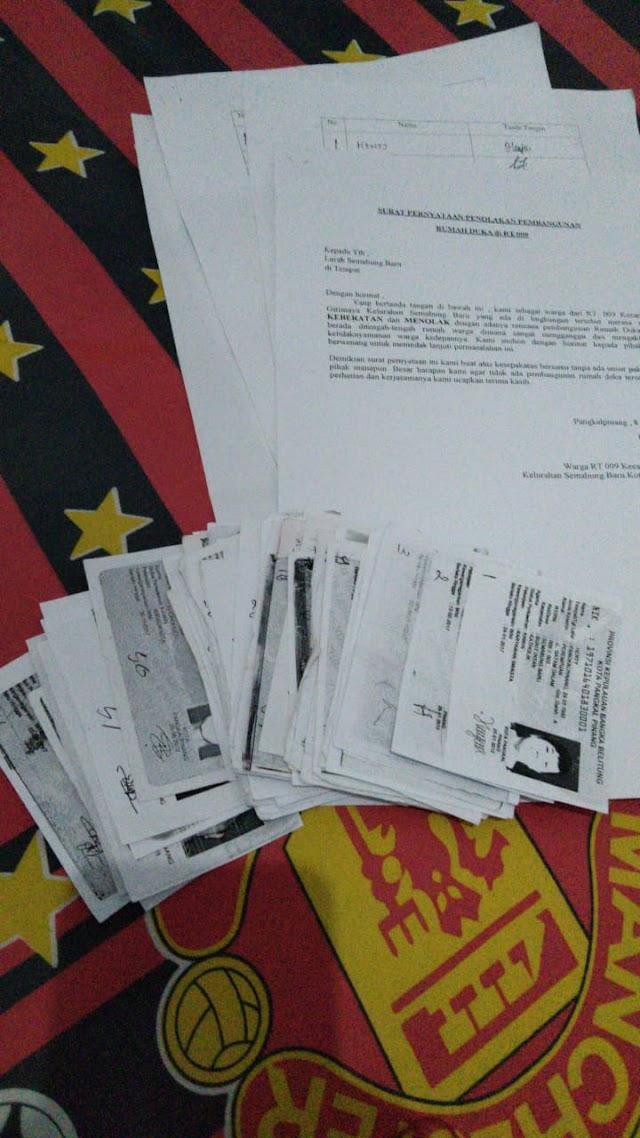 Warga Semabung Baru Kirim Surat Pernyataan Penolakan Pembangunan Rumah Duka