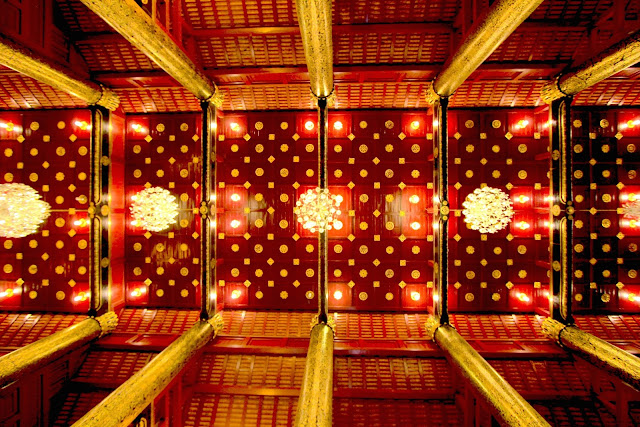Temple Buddha Celling Travel Photography Chiang Mai Thailand