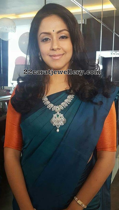 Jyothika Diamond Mango Necklace