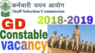 SSC GD Constable Recruitment 2018 Notification - Apply for 57000