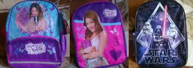 """[Recenzja] Plecaki z motywem """"Violetta"""" oraz """"Star Wars"""""""