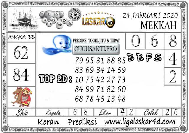Prediksi Togel MEKKAH LASKAR4D 24 JANUARI 2020