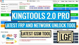 Kingtool 2.0 Pro Latest GSM FRP & Network Unlock Tool 2019