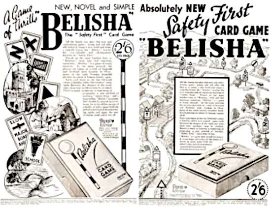 Belisha Card Game Advertisements