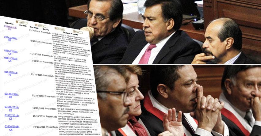 Apra y el Fujimorismo unen sus fuerzas para evitar el referéndum. Quieren reelegirse como de lugar