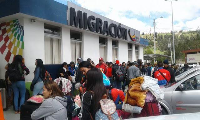 Ecuador registró la llegada de 5 mil venezolanos durante este mes