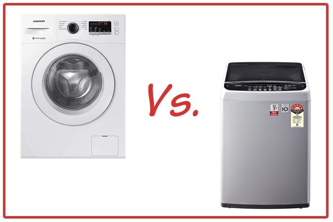Samsung WW65R20GLSW/TL (left) and LG T65SNSF1Z (right) Washing Machine Comparison.